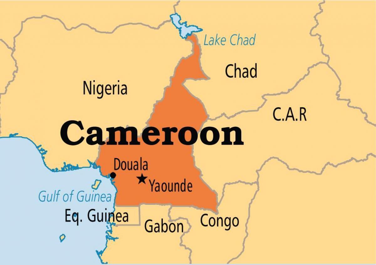 Afrika Karta Guinea.Yaounde Kamerunas Zemėlapis Zemėlapis Yaounde Kamerunas Vidurio